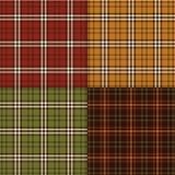 Dziękczynienie barwi szkockie kraty Zdjęcie Stock