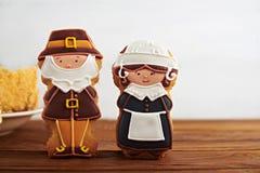 Dziękczynienie cukierki na drewnianym tle Fotografia Stock