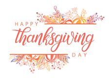 Dziękczynienie dnia typografia Zdjęcia Royalty Free