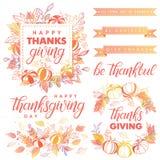 Dziękczynienie dnia typografia Zdjęcie Royalty Free