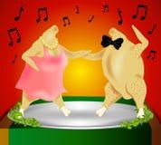 dziękczynienie indyk taniec Zdjęcie Royalty Free