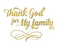 Dziękuje bóg dla mój rodziny Fotografia Stock