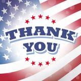Dziękuje ciebie America Zdjęcia Stock