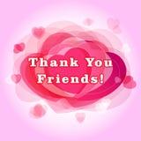Dziękuje ciebie dla zwolennika kartka z pozdrowieniami przyjaciele Zdjęcie Royalty Free
