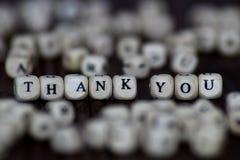 Dziękuje ciebie okrzyk - odosobniony tekst Zdjęcie Royalty Free