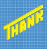 Dziękuje w isometric stylu Obraz Stock