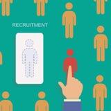 Dział zasobów ludzkich i rekrutacyjny nowożytny pojęcie Zdjęcia Royalty Free