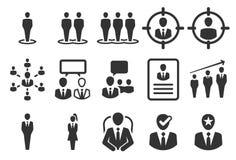 Dział zasobów ludzkich ikony ilustracji