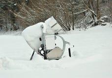 działa blisko narty skłonu śnieg Fotografia Stock