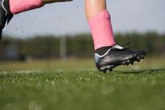działająca gracz piłka nożna Zdjęcie Stock