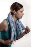 działająca kobieta zdjęcie stock
