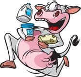 Działająca krowa obraz stock