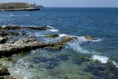 Działająca morze fala Fotografia Royalty Free