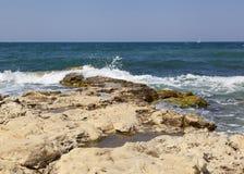 Działająca morze fala Zdjęcia Royalty Free