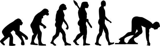 Działająca Sprint ewolucja ilustracja wektor