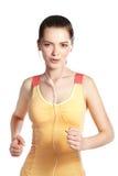 Działającego dysponowanego sprawność fizyczna sporta wzorcowy jogging ono uśmiecha się Obrazy Stock