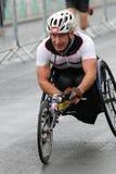 Działającego maratonu ćwiczenia sporta zdrowy parathlete obraz royalty free