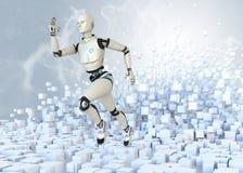Działający android Fotografia Stock