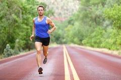 Działający atleta mężczyzna Zdjęcia Stock
