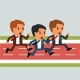 Działający biznes wygrywać Biznes odosobniony wektor Zdjęcia Stock