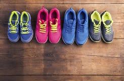 Działający buty na podłoga Obraz Stock