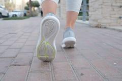 Działający buty w akci zdjęcie stock