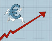 Działający euro Fotografia Stock