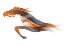 Działający koń ilustracja wektor