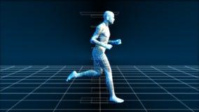 Działający mężczyzna (Bionic nauki technika) ilustracji