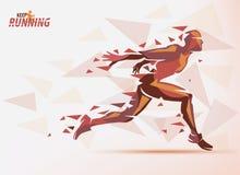 Działający mężczyzna, sporta i rywalizaci tło, Zdjęcie Stock