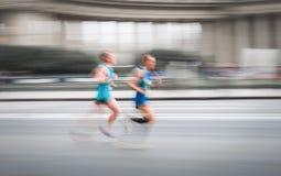 Działający mężczyzna w szybkim ruchu Fotografia Stock