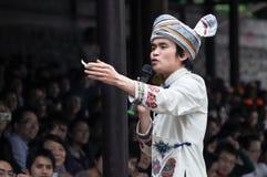 Działający męski śpiewak ludowy Obraz Royalty Free