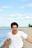 działający nastolatek Zdjęcie Royalty Free