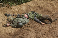 Działający Niemieccy żołnierze Obrazy Stock