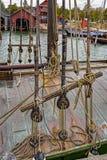 Działający olinowanie żeglowanie statek Fotografia Royalty Free