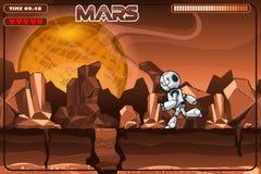 Działający robot na Mars Ekscerpcja od gry ilustracji