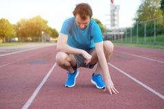 Działający sportowa uczucia ból póżniej ma uraz zdjęcia royalty free