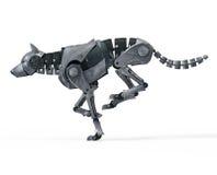 Działający Wilczy robot Zdjęcie Royalty Free