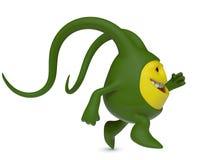 Działający zielony potwór Fotografia Stock