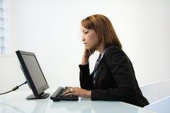 działanie bizneswomanu Zdjęcia Stock