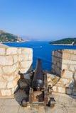 działo Croatia Dubrovnik retro obraz royalty free