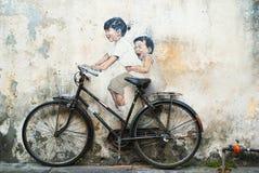 Działo Uliczny Street Art Penang zdjęcie stock