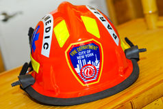 działu pożarniczy hełma nyc sanitariusz Zdjęcia Royalty Free