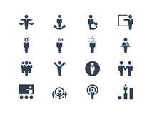 Działu zasobów ludzkich i strategii ikony Zdjęcie Stock