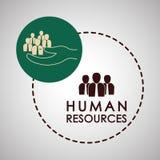 Działu zasobów ludzkich projekt Ludzie ikon Pracownika pojęcie Fotografia Stock