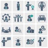 Działy zasobów ludzkich i zarządzanie ikony set Płaska wektorowa ilustracja ilustracji