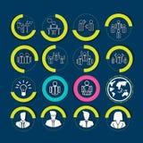 Działy zasobów ludzkich i zarządzanie ikony ustawiać ściągania ilustracj wizerunek przygotowywający wektor Obraz Royalty Free