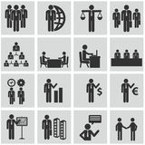 Działy zasobów ludzkich i zarządzanie ikony ustawiać. Obraz Stock