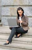 działanie bizneswomanu Fotografia Stock