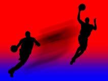 działanie gracza koszykówki Zdjęcie Stock
